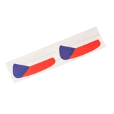 Czech flag face sticker