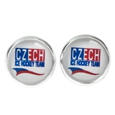 Earrings with logo Czech Ice Hockey Team small