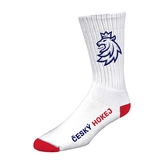 Socks long white-red logo lion CH