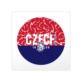 Sticker rounded with the text CZECH in pattern
