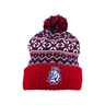 Beanie CCM with ball on the bottom in winter style with logo CH