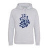 Hoodie for adult with logo lion in patina effect