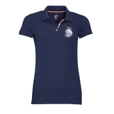 Ladie's polo with striped collar with the logo CH
