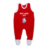 Baby jumpsuit red with printed logo