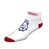 Short socks with logo lion Czech hockey