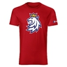 Mens T-shirt logo lion Czech ice hockey red
