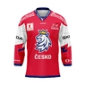 Jersey with embroidery logo Czech hockey red with ads