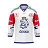 Jersey with embroidery logo Czech hockey white with ads