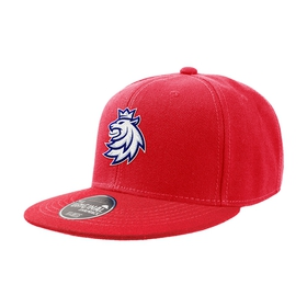Kid's snap with stitched logo red