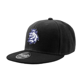 Kid's snap with stitched logo black