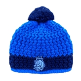 Beanie for kids blue-navy with stitched logo CH