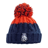 Beanie for adult red-blue with stitched logo CH