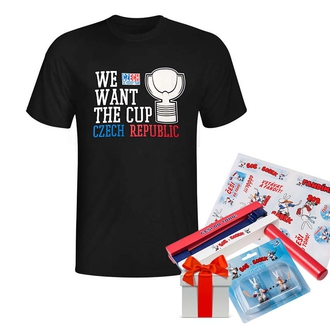 Men's WE WANT THE CUP Black T-shirt