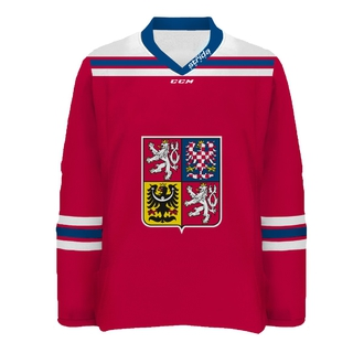 CZE jersey with broidery red version - personalized