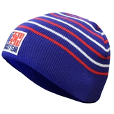 Blue stocking cap with stripes - kids
