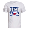 Men's T-shirt with crossed hockey sticks - white