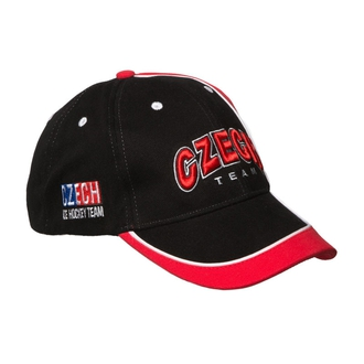 Cap Czech Team in colours black and red