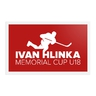 Red sticker with logo Hlinka Cup