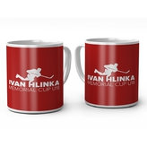 Red mug with logo Hlinka Cup