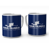 Blue mug with logo Hlinka Cup