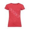 Women's T-Shirt oblique inscription CZECH - red