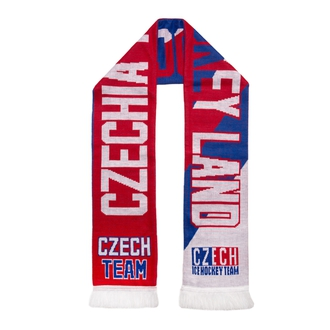 Knitted scarf tricolor Czech Team