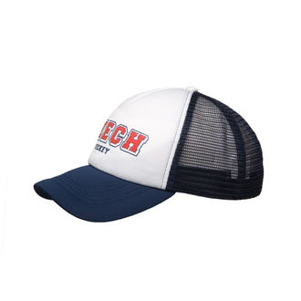 Cap Trucker Navy-White Czech Hockey for Kids
