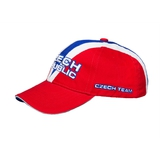 Cap in the colors of the Czech Republic and the inscription CZECH REPUBLIC