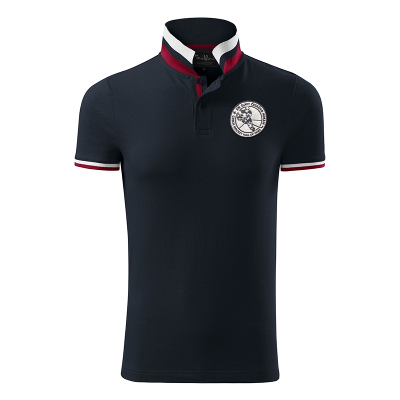Men´s Polo shirt striped collar Hall of Fame