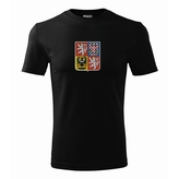 Men´s T-shirt with Czech national emblem black