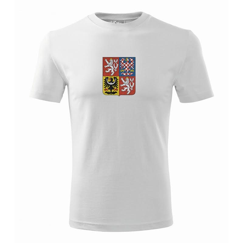 Men´s T-shirt with Czech national emblem white