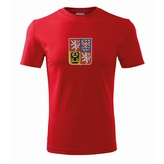 Men´s T-shirt with Czech national emblem red