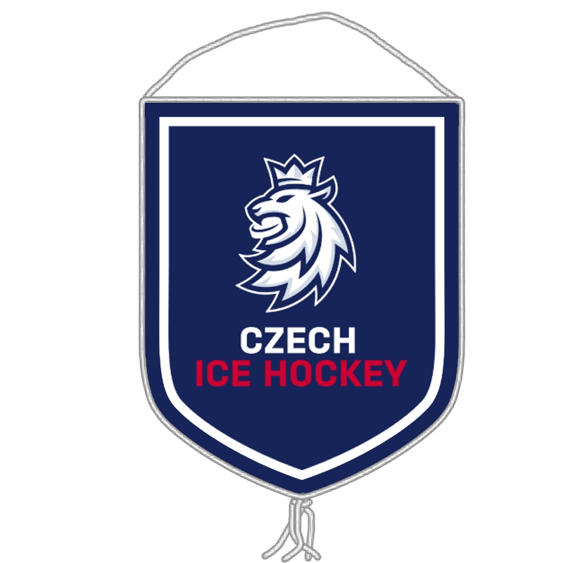 Collectors' flag logo lion Czech ice hockey