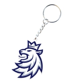 Silicone keychain logo lion Czech ice hockey