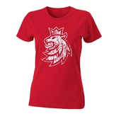 Women´s T-Shirt red with Czech ice hockey lion logo