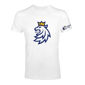 Mens T-shirt logo lion Czech ice hockey white