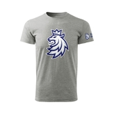 Children's T-shirt logo lion Czech ice hockey grey