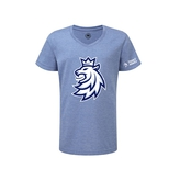 Children's T-shirt logo lion Czech ice hockey blue