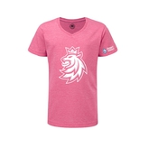 Children's T-shirt logo lion  Czech ice hockey pink