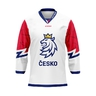 Fan jersey Czech hockey white without ads