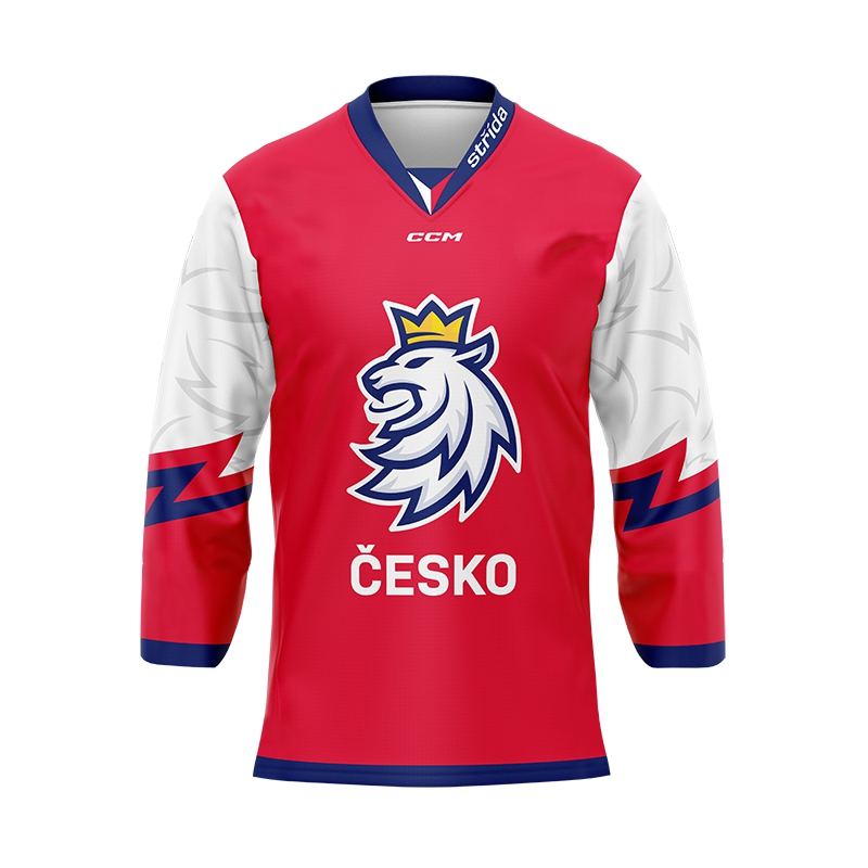 Jersey with embroidery logo Czech ice hockey 18/19 red