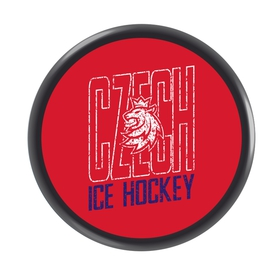 Puck Czech Ice Hockey logo lion tricolor CH