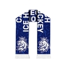 Scarf knitted Czech Hockey pattern - blue