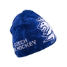 Beanie for adults pattern logo CH blue