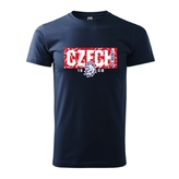 Kid's T-shirt with CZECH inscription in pattern