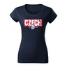 Women's T-shirt with CZECH inscription in pattern