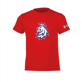 Kid's T-shirt logo lion Czech Hockey red