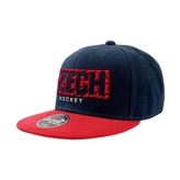 "Snapback cap ""CZECH"" in pattern"